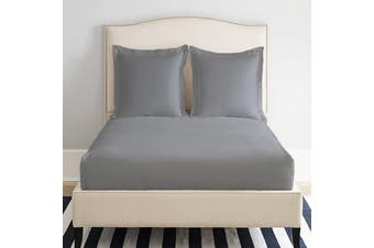 Park Avenue 1200 Thread count Cotton Blend Fitted Sheet Single Grey