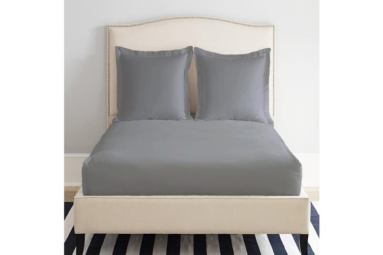 Park Avenue 1200 Thread count Cotton Blend Fitted Sheet Double Grey