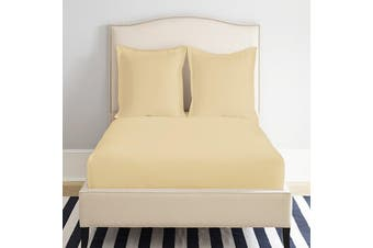 Park Avenue 1200 Thread count Cotton Blend Fitted Sheet Queen Taupe