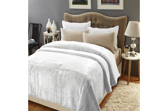 Renee Taylor 700GSM 2 ply 220x240 cms Mink Blanket Dove