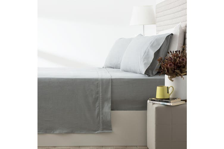 Park Avenue 175 GSM Egyptian cotton Flannelette sheet set King Single Ticking Stripe