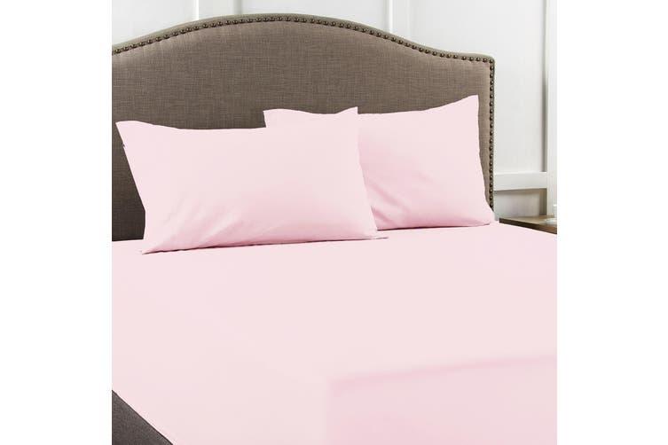 Ddecor Home 1000 TC Premium Cotton blend Combo set Queen Pink