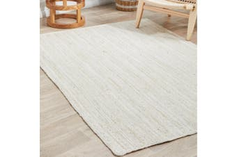 Sandridge Jute Ivory White Modern Floor Rug 150x220cm