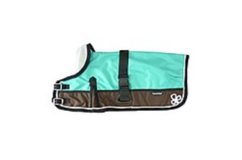 Waterproof Dog Coat 3011-B Teal & Chocolate (For Big Dogs)