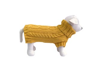 Coco & Pud Cable Dog Sweater - Mustard