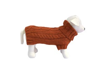 Coco & Pud Cable Dog Sweater - Sienna