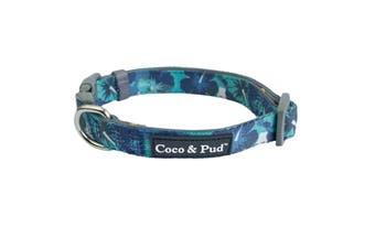Coco & Pud Camo Hibiscus Dog Collar