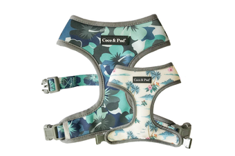 Coco & Pud Camo Hibiscus Dog Harness