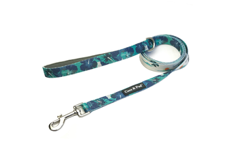 Coco & Pud Camo Hibiscus Reversible Dog lead/ Leash