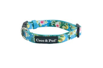 Coco & Pud Flamingo Tropical Dog Collar