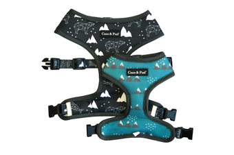 Coco & Pud Luna Bear Reversible Dog Harness