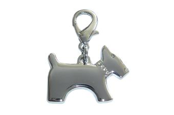 Terrier Dog Collar Charm - Silver