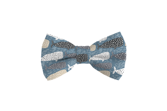 Coco & Pud Whale of a Time Dog Bow tie