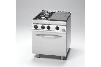 Free Standing Solid Target top with open burner and Oven - CG7-31-D