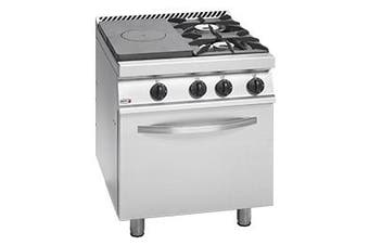 Freestanding Solid Target Top with Open Burners & Oven  - CG7-31-L