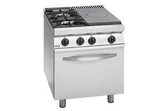 Freestanding Solid Target Top with Open Burners & Oven  - CG7-31-R