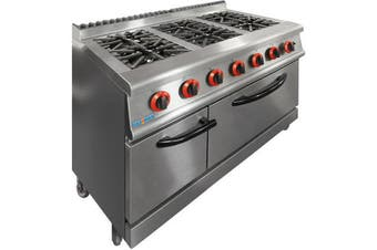 JZH-RP-6LPG GASMAX LPG Gas 6 Burner Top On Oven with Flame Failure
