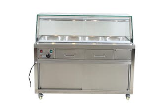 Heated Bain Marie Food Display - PG150FE-YG