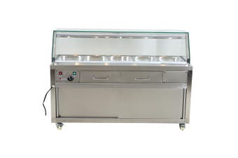 F.E.D Heated Bain Marie Food Display - PG180FE-YG