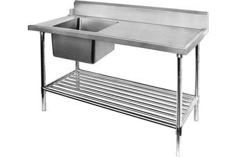 SBBD-7-1800L - Left Inlet Single Sink Dishwasher Bench