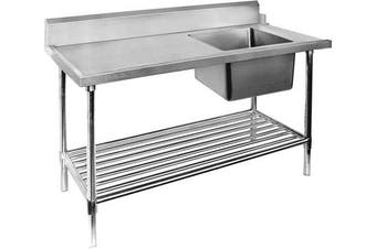 SBBD-7-1800R - Right Inlet Single Sink Dishwasher Bench