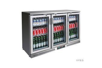 SC316SG Three Door Stainless Steel Bar Cooler