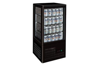 TCBD78B Four-Sided Countertop Display Fridge Black