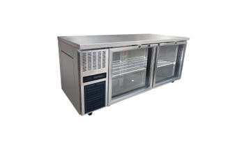 Large Double Glass Door Workbench Fridge - TL1800TNG