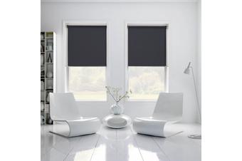 100% BLOCKOUT Roller Blind 180cm(W)x210cm(D) Black