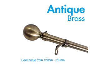 Extendable Curtain Rod 120-210cm Brushed Brass