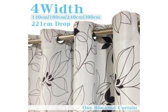 Single Panel Eyelet  Curtain 180cm x 221 cm (D) Printed Blackout curtains