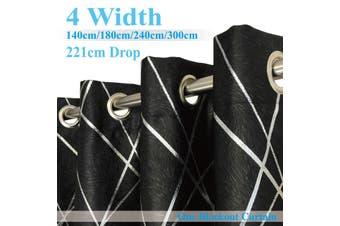 Single Panel Eyelet  Curtain 300cm x 221 cm (D)  Blackout curtains