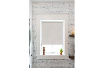 SUNSCREEN Roller Blinds 210cm(W)x210cm(D) White/Grey
