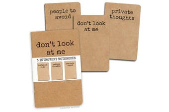 Archie McPhee - Set Of 3 Introvert Notebooks