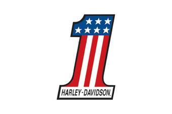 Harley Davidson Number 1 Die Cut Embossed Tin Sign