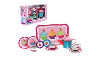 Schylling - Cupcake Tin Tea Set