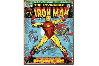 Iron Man Comic Retro Tin Sign