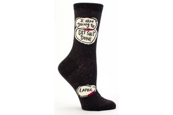 Blue Q - I Am Going To Get Sh#t Done Later Womens Crew Socks