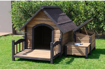 Brunswick A-Frame Kennel plus Accessories Pack large