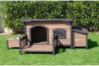 Brunswick Flat Roof Kennel plus Accessories Pack large