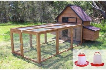 Brunswick Double Nest Box Chicken Coop with Run