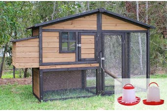 Brunswick A Frame Chicken Coop Package with Feeders