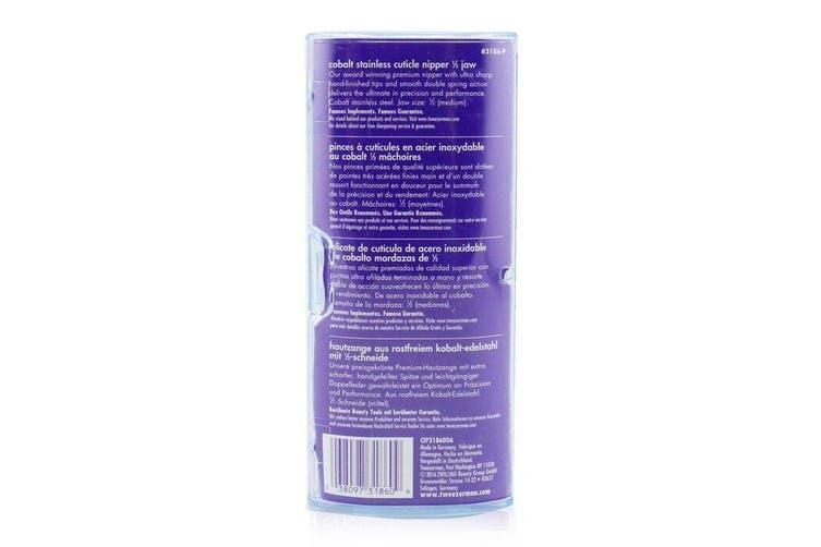 Tweezerman Professional Cobalt Stainless Cuticle Nipper - 1/2 Jaw