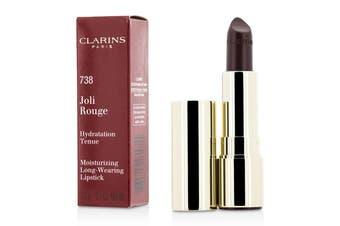 Clarins Joli Rouge (Long Wearing Moisturizing Lipstick) - # 738 Royal Plum 3.5g