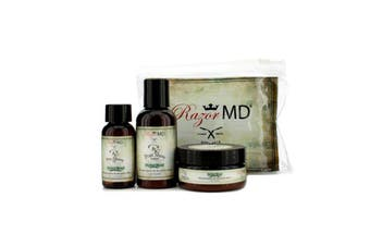 Razor MD RX Shave Trio (Herbal Blend): Post Shave Lotion 60ml + Pre Shave Oil 30ml + Shave Cream 60ml 3pcs