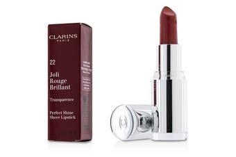 Clarins Joli Rouge Brillant (Perfect Shine Sheer Lipstick) - # 22 Coral Dahlia 3.5g
