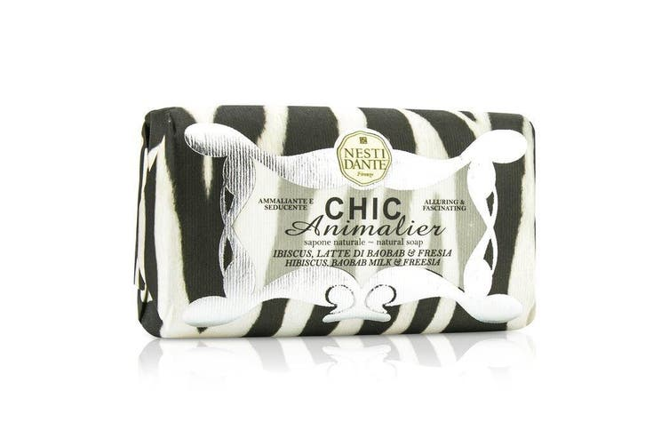 Nesti Dante Chic Animalier Natural Soap - Hibiscus, Baobab Milk & Freesia 250g