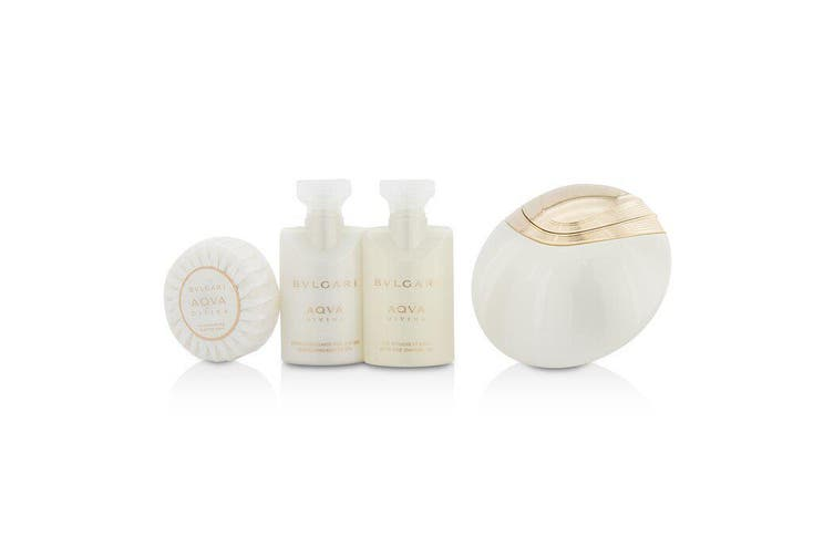 Bvlgari Aqva Divina Coffret: Eau De Toilette Spray 65ml + Body Lotion 40ml + Shower Gel 40ml + Soap 50g + Pouch 4pcs+1pouch