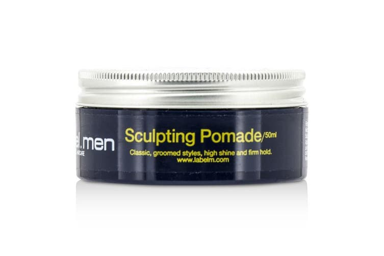 Label.M Men's Sculpting Pomade (Classic, Groomed Styles, High Shine and Firm Hold) 50ml