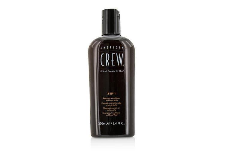 American Crew Men 3-IN-1 Shampoo, Conditioner & Body Wash 250ml